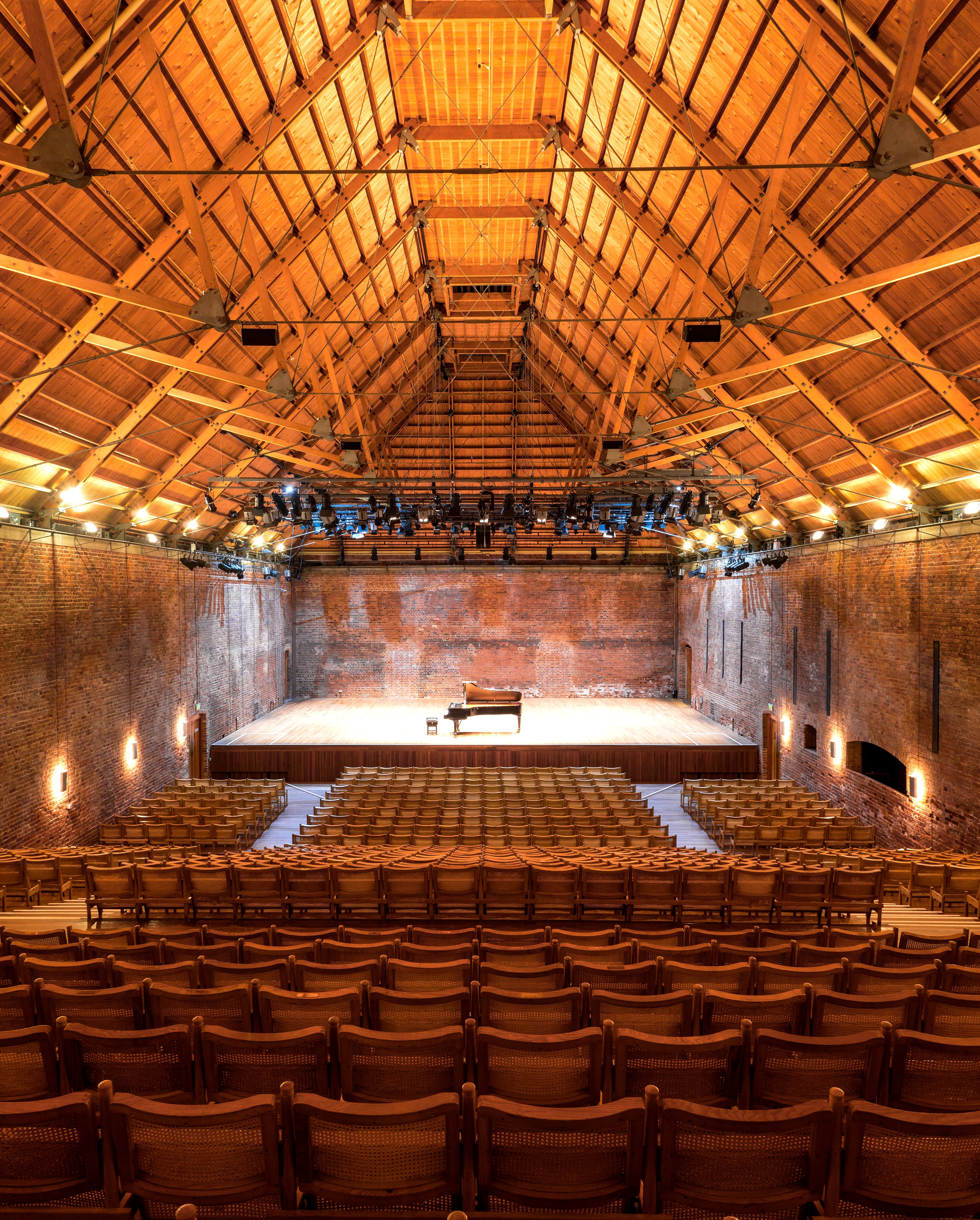 Snape Maltings Concert Hall interior